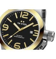 TW STEEL Canteen 50mm Two-tone Gold Gents Watch CB42
